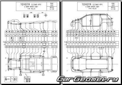 auto repair manual online 2004 toyota sienna electronic throttle control кузовные размеры toyota sienna 2004 2010 mcl2 collision repair manual