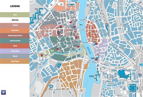 netherlands attractions map maastricht tourist map