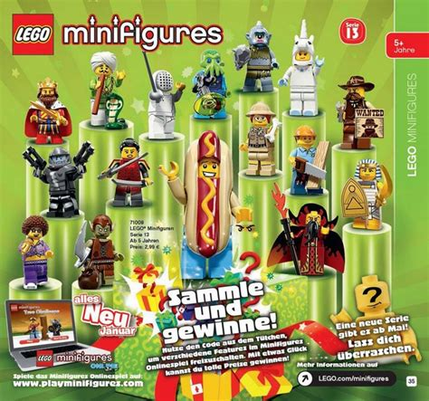 Lego Minifigure Series 13 lego official series 13 minifigures 71008 images and