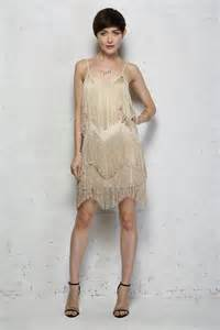 Gold fringed flapper dress gold tassel dress