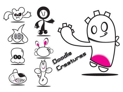 doodle creatures free free vectors vectorfreak