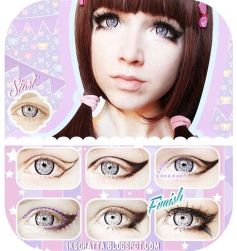 tutorial makeup kawaii step by step eye makeup pics my collection window
