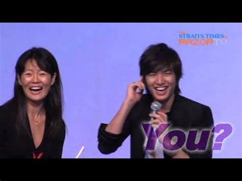 who is the real girlfriend of lee min ho lee min ho answers desperate for a girlfriend lee min ho pt 1 youtube