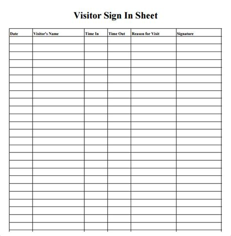 sheet template word sign in sheet template 21 free documents in