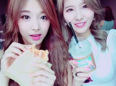 twice instagram twice tzuyu and sana s double visual attack on instagram