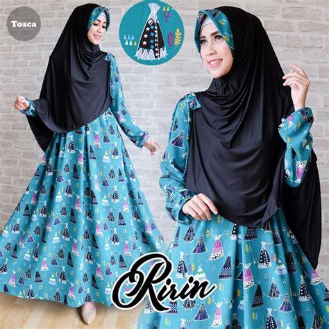Paling Murah Gamis Syari Ayunda Coklat Busana Muslim Syari baju gamis warna hijau tosca
