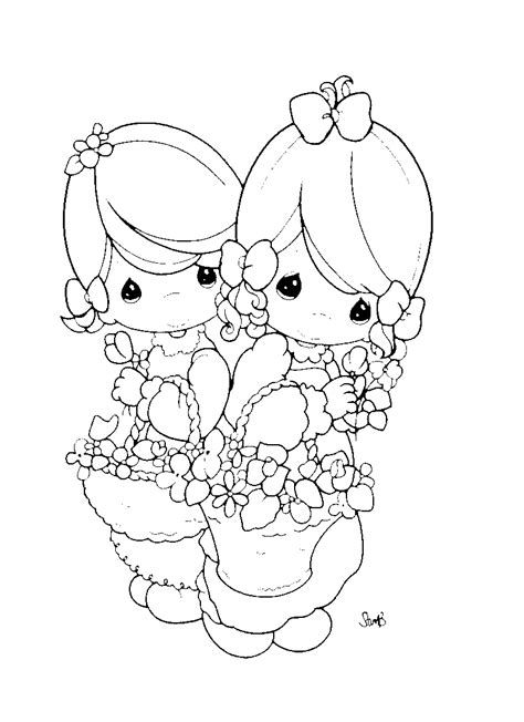 coloriage Fille Printemps gratuit - Printemps