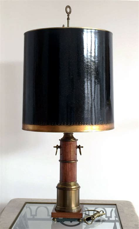 vintage wood antique brass electric table lamp  tall ebay