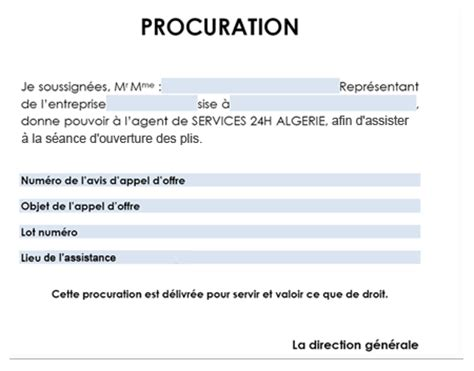 Exemple De Lettre De Procuration Administrative clients 233 trangers services 24h alg 233 rie courrier