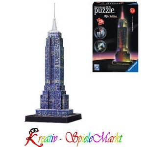 puzzle mit beleuchtung ravensburger 3d puzzle empire state building usa mit led