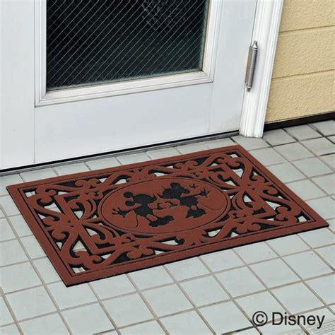 Disney Hotel Door Mat - disney 屋外用玄関マット ミッキー ミニー mickey and minnie door mat on