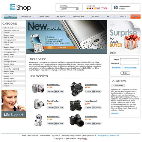 e shopping template free oscommerce template free e shop template free
