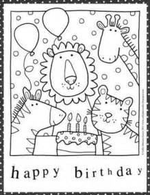 birthday coloring page free happy birthday mum coloring pages