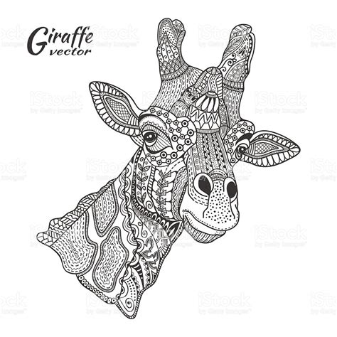 giraffe coloring page for adults get this giraffe coloring pages for adults zentangle art