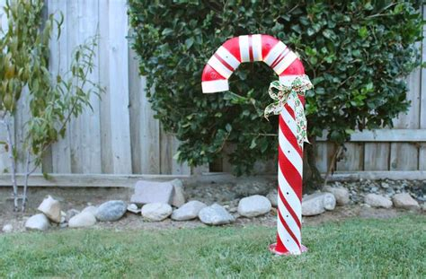 how to make a lighted pvc candy cane decoration ehow