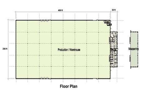 office floor plan for 109 000 sf building profiles
