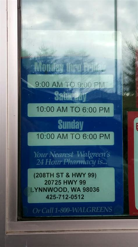 Operation Par Detox Phone Number by Walgreens Pharmacy Chemist 16423 Larch Way Lynnwood