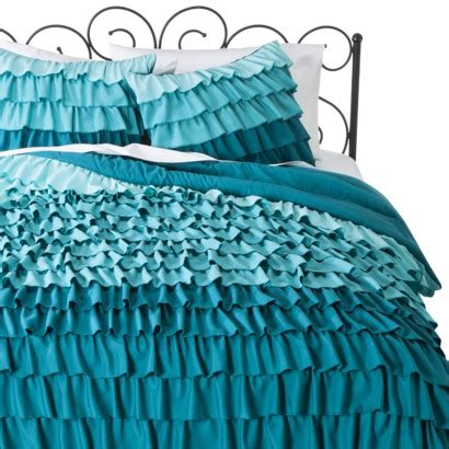 blue ruffle bedding target xhilaration 174 ruffle comforter set blue