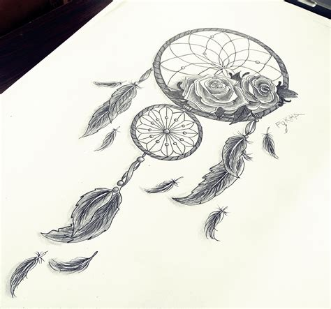 design dream do dreamcatcher roses feathers by pokiha drawings
