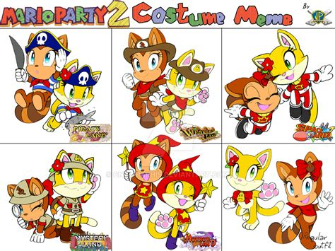 Mario Party Memes - mario party 2 costume meme tikani and kimi by cnwgraphis on deviantart