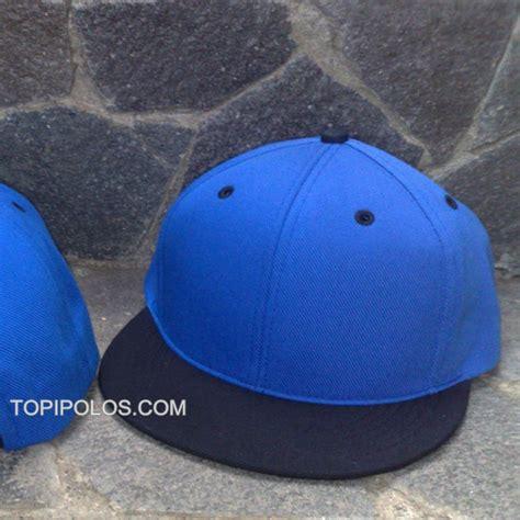 Topi Polos Grosir jual topi snapback hiphop polos harga grosir biru hitam dan hitam biru topipedia