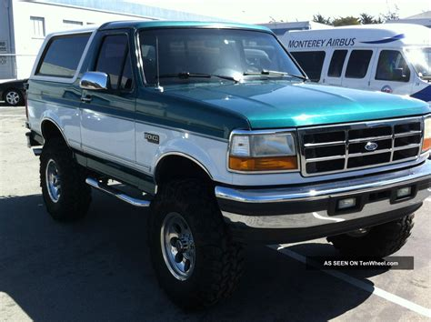 bronco car 1996 1996 ford bronco 2 door