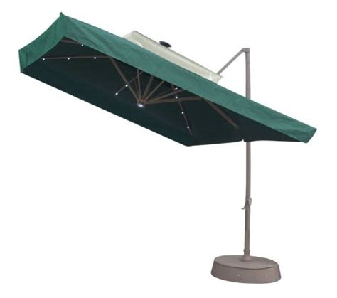 Discount Patio Umbrellas 3 Discount 8 5 Square Offset Solar Umbrella Green Offset Patio Umbrella
