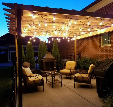 Pergola String Lights Set A Romantic Mood In Your Backyard Outdoor Pergola Lighting Ideas