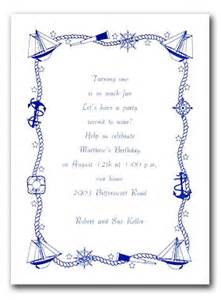Nautical Birthday Theme - free nautical invitation templates party invitations ideas