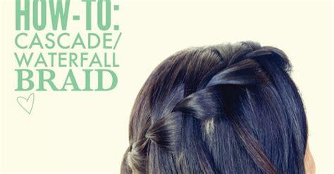 hair  fashion     cascade waterfall braid