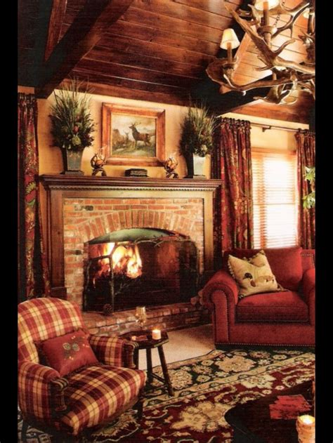 Log Cabin With Fireplace by Cabin Fireplace On Cabin Log Cabins And