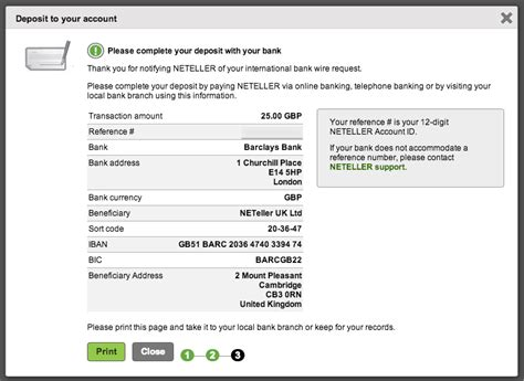 free international bank account how to deposit into my neteller account
