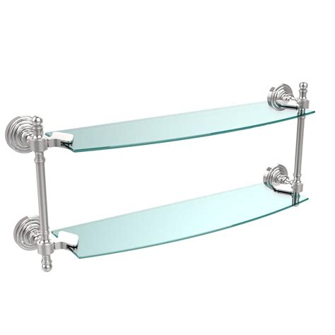 delta cassidy 18 in w glass shelf with bar in chrome
