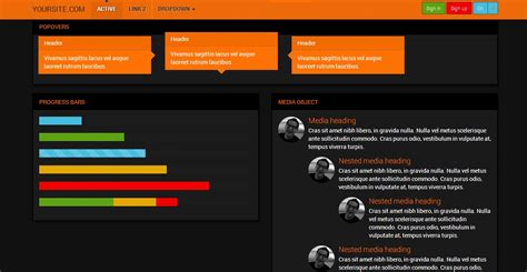 bootstrap themes orange bootstrap 3 0 robotron orange theme bootstrap themes on