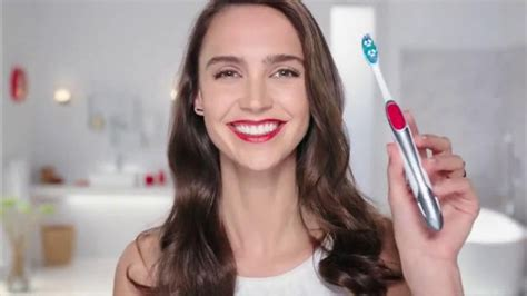 colgate commercial actress colgate optic white toothbrush plus whitening pen tv spot