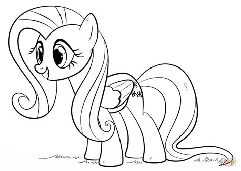 fluttershy coloring pages fluttershy pony coloring page free printable coloring pages