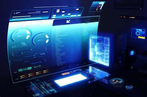 futuristic desk futuristic computer desktop futurism