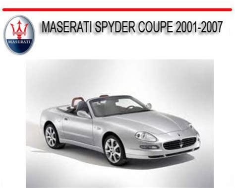 service and repair manuals 1990 maserati spyder electronic toll collection maserati spyder coupe 2001 2007 repair service manual download ma