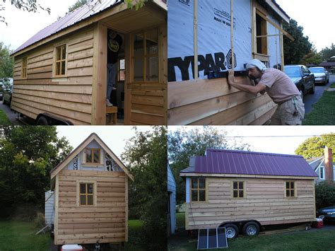the 130 square foot quot fencl quot tiny house being pulled by a gungadin s tumbleweed fencl