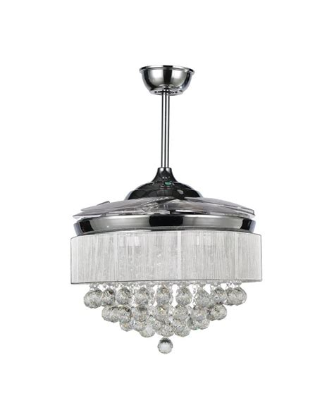 ceiling fan with foldable blades modern chrome led ceiling fan with foldable blades