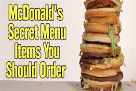 secret menu menu hacks mcdonald s secret menu you need to about