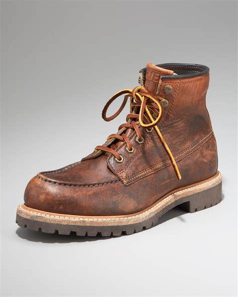 frye shoes lyst frye dakota wash boot in brown for