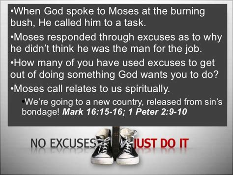 no excuses just do it