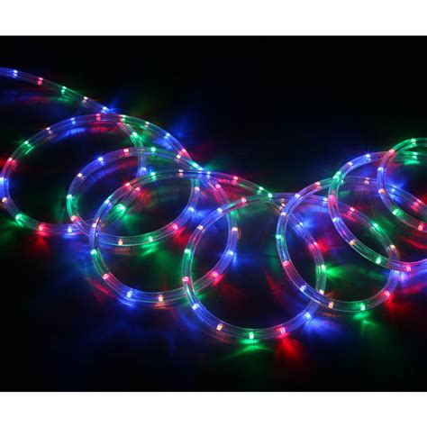 shop neoflam multi color led rope light actual 18 ft at