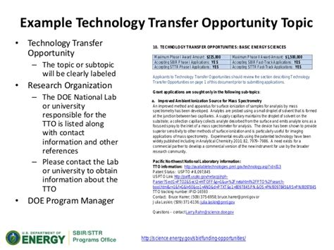 small business technology transfer program phase i sttr small business technology transfer program phase i sttr