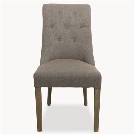 st grey padded dining chair