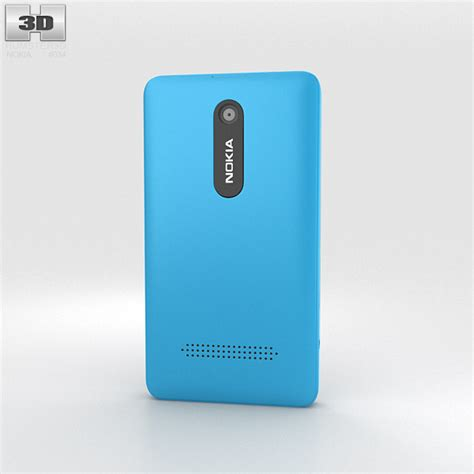 Bekas Handphone Nokia Asha 210 nokia asha 210 cyan 3d model hum3d
