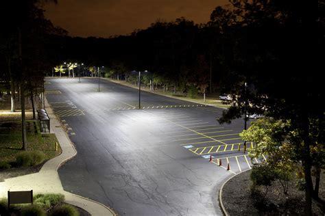 Outdoor Parking Lot Lighting Energy Saving Equation Ge Lighting Helps School Cus