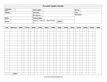 Accounts Payable Voucher Template by Accounts Payable Invoice Template