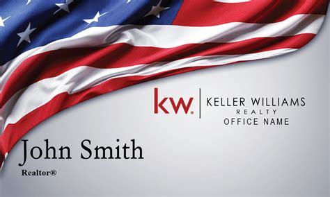 american flag business cards templates keller williams business card american flag design 103261